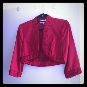 Badgley Mischka red bolero, evening jacket